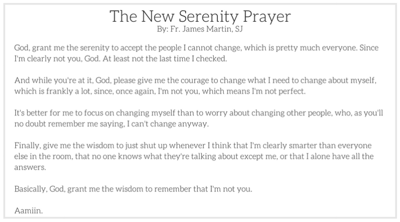 The New Serenity Prayer
